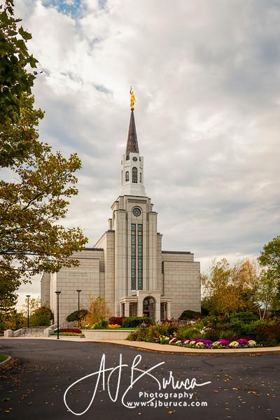 Fall Afternoon Boston Massachusetts Temple