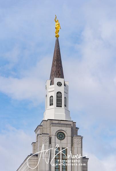 Looking Upward Boston Massachusetts Temple