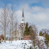 Boston Temple Winter