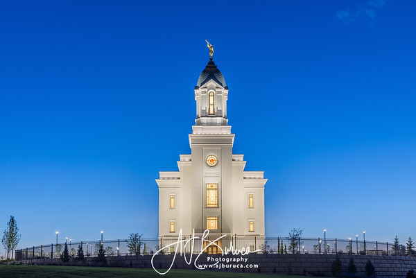 Blue Hour Cedar City Utah Temple