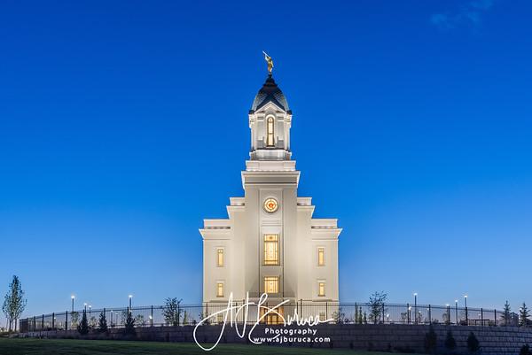 Blue Hour Cedar City Utah Temple