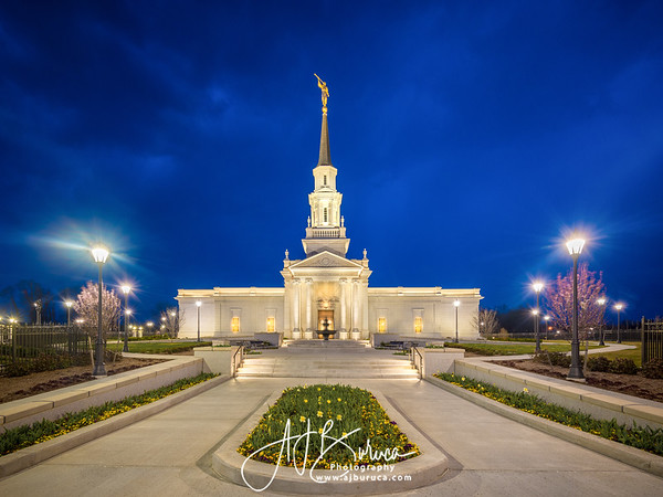 Hartford Temple Spring Blue Hour