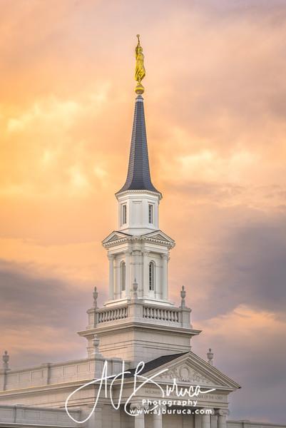 Evening Fire Hartford Connecticut Temple
