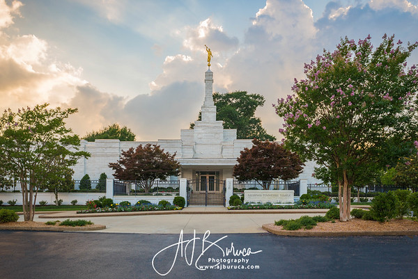 Glorious Sunset Memphis Tennessee Temple