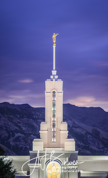 Purple Mountains Mount Timpanogos Utah Temple