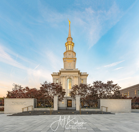 Philadelphia Temple Blue Skies