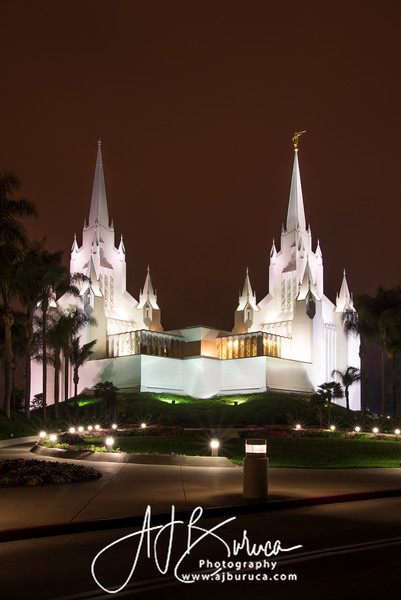 San Diego Temple Midnight Glow