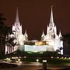San Diego Temple Midnight Glow