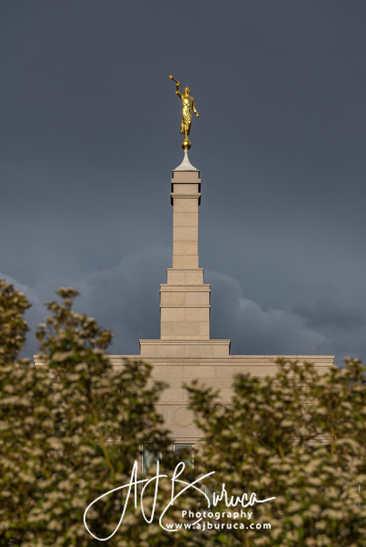 Snowflake Arizona Temple Storm Clouds