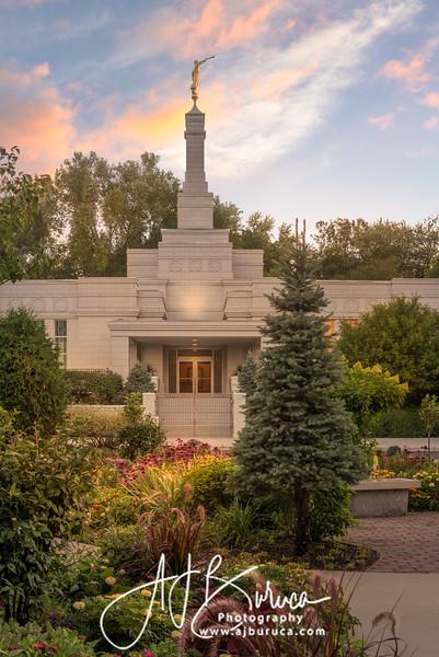 Sacred Garden Sunset | St. Paul Minnesota Temple
