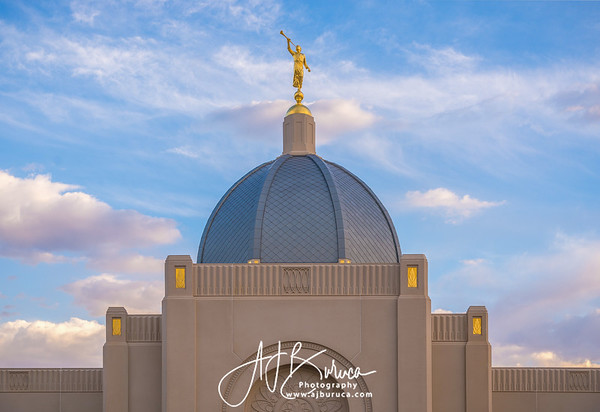 Moroni Dome Horizontal  Tucson Arizona Temple
