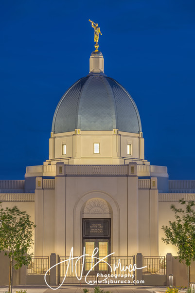 Blue Hour Tucson Arizona Temple