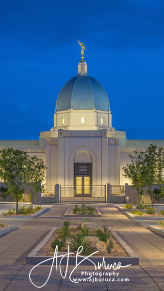 Blue Hour Vertical Tucson Arizona Temple