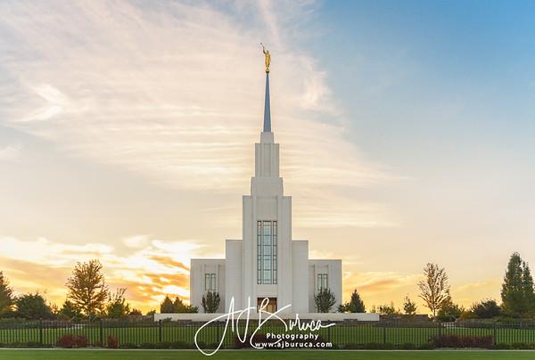 Golden Twin Falls Idaho Temple