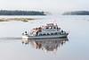 Tour boat Polar Princess as fog lifts.