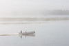 Two Bay canoe on a foggy morning. Sandbar and Polar Princess tour boat in background. 2006 August 31st.