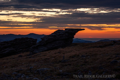 Sunrise after a storm on Trail Ridge Road
