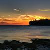 Sunrise over Gossip Island