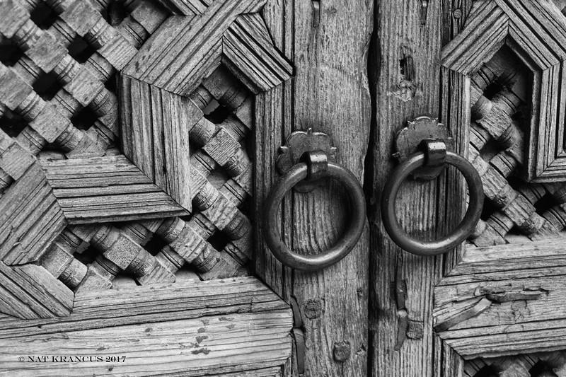 Door at Medersa bou Inania
