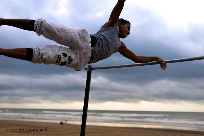 Gymnasts in Sidi Ifni