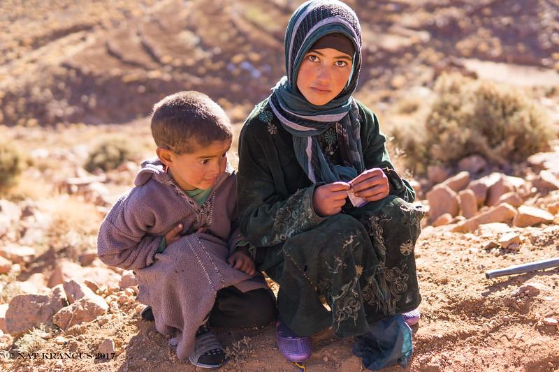 Kids in the Jbel Saghro