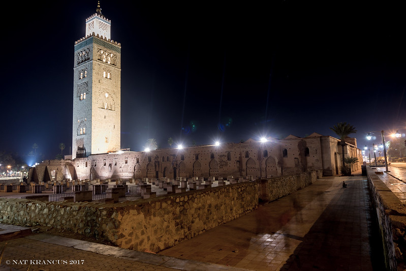 Playing Football under the Koutoubia Mosque