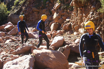 Canyoning at atlas mountain just 45 min from Marrakech join us at www.moroccoadventuretours.com