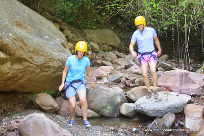 Canyoning at Ourika valley is awesome - just 45 min from Marrakech, Morocco. Join us at http://moroccoadventuretours.com