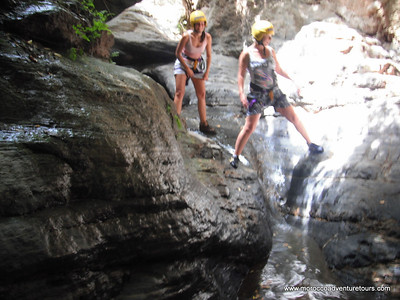 Half-day canyoning tour in the Ourika Valley near Marrakech with Splash Morocco. http://moroccoadventuretours.com