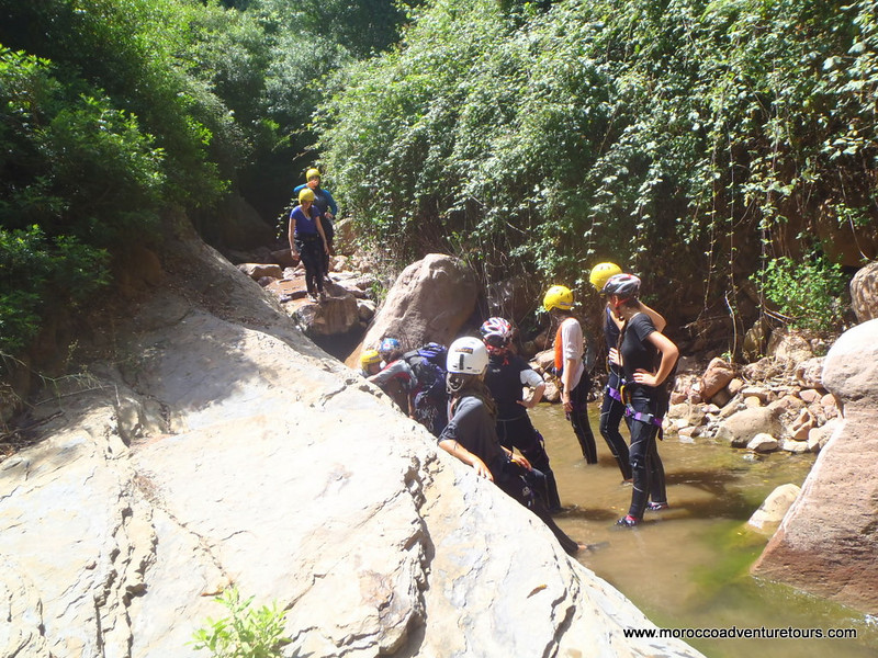 Canyoning in the Ourika Valley with Splash Morocco. http://moroccoadventuretours.com