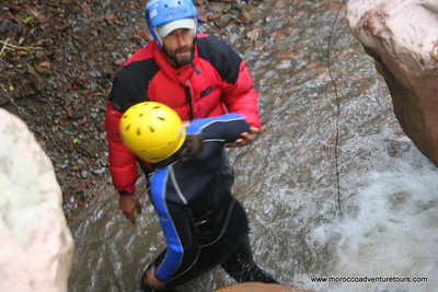 Adventure trip in Morocco of canyoning with Splash Morocco edit