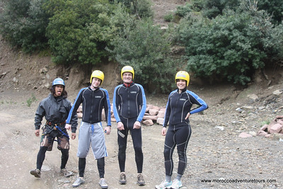 Adventure trip in Morocco of canyoning with Splash Morocco