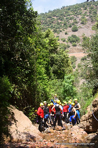 Canyoning in the Ourika Valley in Morocco, join us at http://www.moroccoadventuretours.com