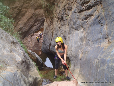 Canyoning in the Atlas Mountains with Splash Morocco. http://moroccoadventuretours.com