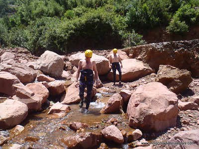 A half day canyoning adventure between Atlas Mountain join us at www.moroccoadventuretours.com