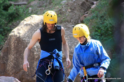 Canyoning Ourika Valley near Marrakech, join us http://moroccoadventuretours.com