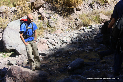 Splash Morocco Imlil Trek into the High Atlas Mountains with views of Toubkal, the highest peak in North Africa. http://moroccoadventuretours.com
