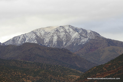 Splash Morocco Imlil Trek Tour into the High Atlas Mountains with views of Toubkal, the highest peak in North Africa. http://moroccoadventuretours.com