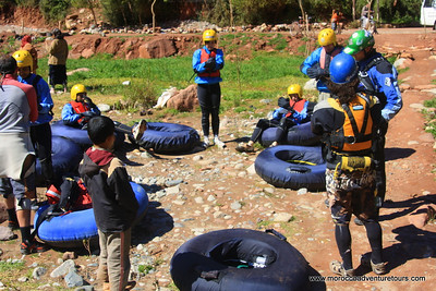 A half day tubing adventure at Ourika river  just 1 hour outside of Marrakech enjoin us at www.moroccoadventuretours.com