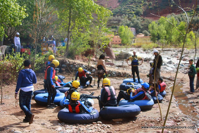 A quick getaway to Morocco and looking for something just a little different? Splash Morocco has the answer. We'll take you out of Marrakech to the majestic High Atlas Mountains where you will discover the beauty of the Ourika Valley and the many Berber villages dotted throughout. Then we will hit the Ourika River for some action-packed whitewater tubing. Forget the cruisy float trip on a tube, this is a trip for the adrenaline junkie. So if you're looking for something just a little out of the ordinary during your stay here, tubing on the river is definitely the answer for you! Join us at Splash Morocco!! A quick getaway to Morocco and looking for something just a little different? Splash Morocco has the answer. We'll take you out of Marrakech to the majestic High Atlas Mountains where you will discover the beauty of the Ourika Valley and the many Berber villages dotted throughout. Then we will hit the Ourika River for some action-packed whitewater tubing. Forget the cruisy float trip on a tube, this is a trip for the adrenaline junkie. So if you're looking for something just a little out of the ordinary during your stay here, tubing on the river is definitely the answer for you! Join us at Splash Morocco!!