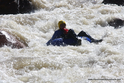 Tubing on Ourika River in Morocco near Marrakech, join us at: http://moroccoadventuretours.com
