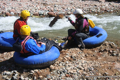 Tubing on Ourika River  in the Ourika Valley in Morocco near Marrakech, join us at: http://moroccoadventuretours.com