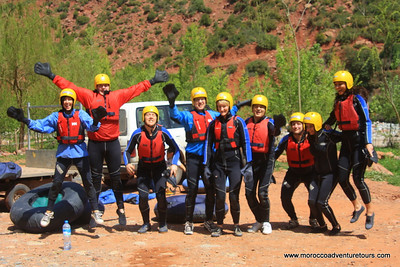 A day adventure with splash Morocco : ourika valley tour and tubes at ourika river join us at www.moroccoadventuretours.com