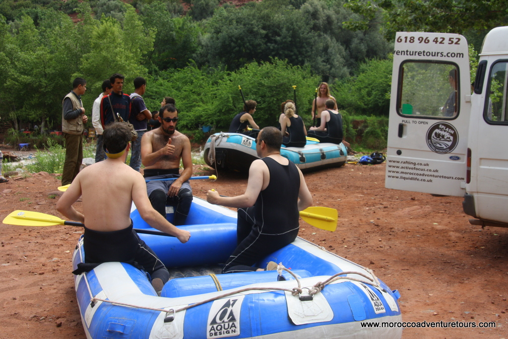 White water rafting with Splash Morocco on the Ourika River - http://moroccoadventuretours.com