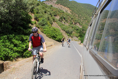 Mountain biking in the High Atlas Mountains in Morocco with Splash. http://moroccoadventuretours.com