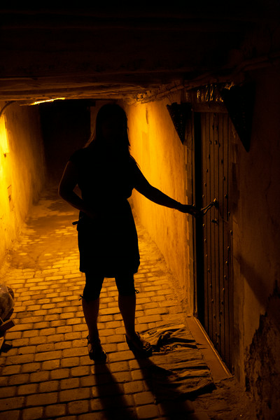 are scary entrance to our riad that is awesome inside