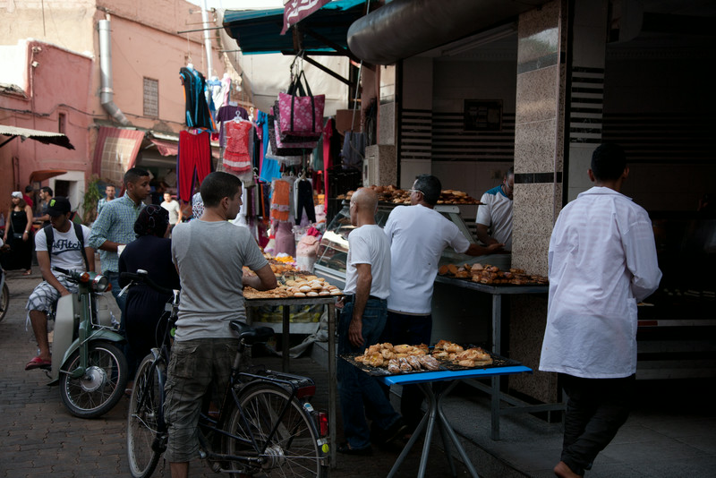 Typical bakery in Marrakesh