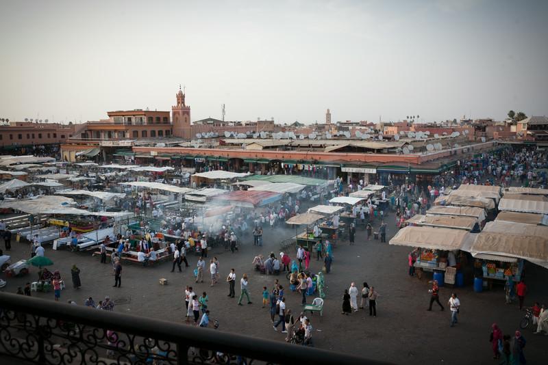 over look of the medina in Marrakesh