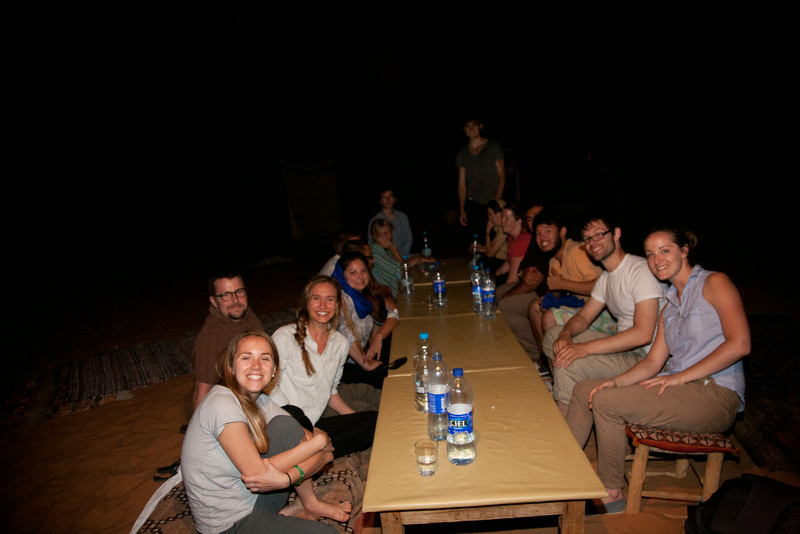 American, Japanese, and Canadians we met in our desert camp