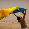 Joussef proudly showing the Berber flag
